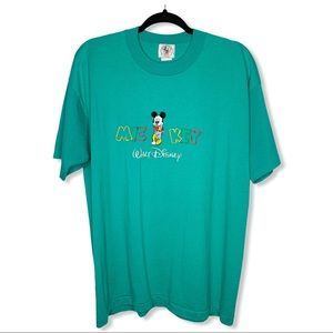 MICKEY & CO. / vintage teal Mickey Mouse tshirt